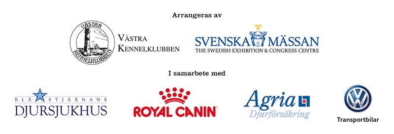 Samarbetspartners till MyDOG: Västra Kennelklubben, Blå Stjärnan, Royal Canin, Agria och Volkswagen
